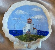Powles' Head Lighthouse (on a shell found there)